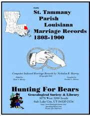 St Tammany Parish Marriage Records St Tammany Par La Marriages 1808 1900 1980 Edition Open Library