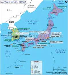 Outline Map Of China Korea And Japan by Map Of Japan And South Korea Http Www Mapsofworld