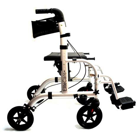 sedia a rotelle in inglese ec ibrida 2 in 1 deambulatore leggero pieghevole trasporto