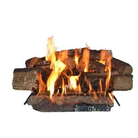 Home Depot Fireplace Logs by Emberglow Country Split Oak 24 In Vented Gas