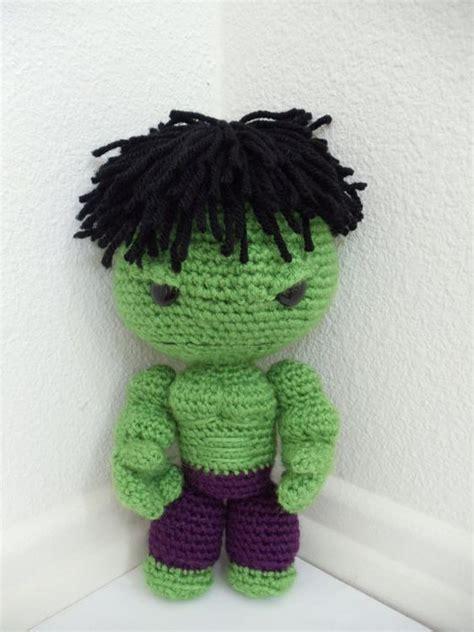 amigurumi hulk pattern hulk sackboy amigurumi crocheted stuffed doll free