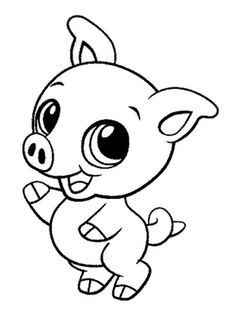 Boneka Piglet Piglet Babi Pig mewarnai gambar anak babi lucu murid 17