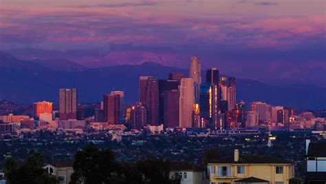 los angeles skyline zoom  stock footage video