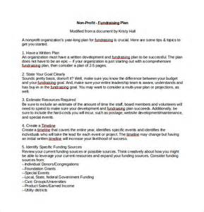 fundraising policy template 11 fundraising plan templates free sle exle