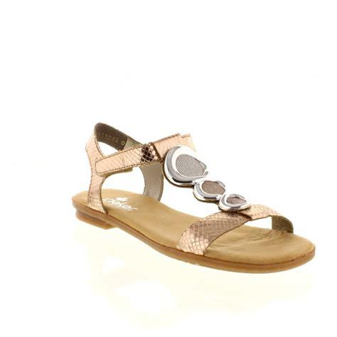 metallic sandals uk rieker 64265 90 multi coloured metallic velcro