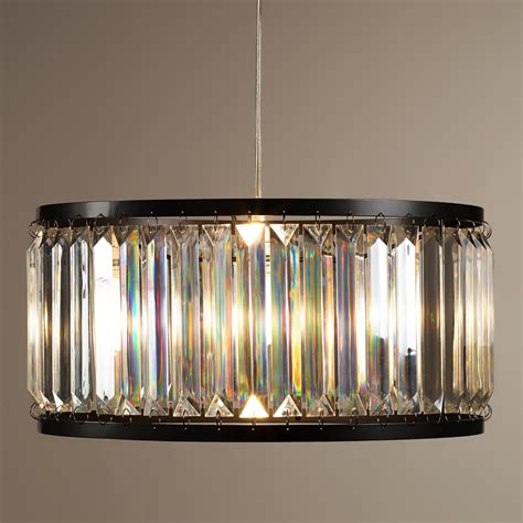 World Market Pendant Light Acrylic Drum Pendant L World Market