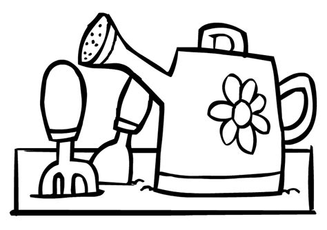 coloring pages of garden tools gardening tool free coloring pages