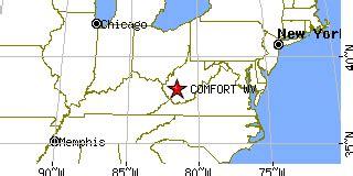 comfort wv comfort west virginia wv population data races