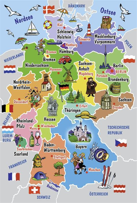 deutsche mappe schmidt 55513 puzzle carte illustr 233 e de l allemagne