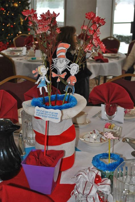 Dr Seuss Baby Shower Centerpiece Ideas by The Cat In The Hat Baby Shower Centerpiece Dr Seuss