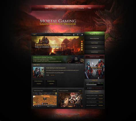 game design websites free mortal gaming website design by zafirehd on deviantart