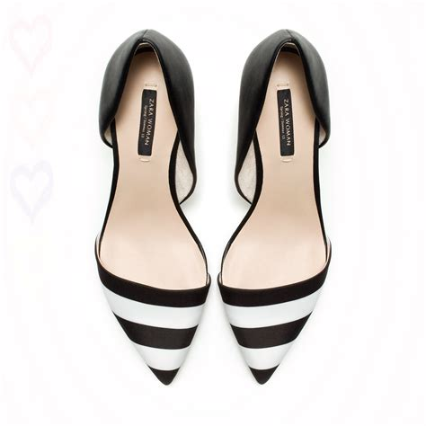black and white heels shoes is heel