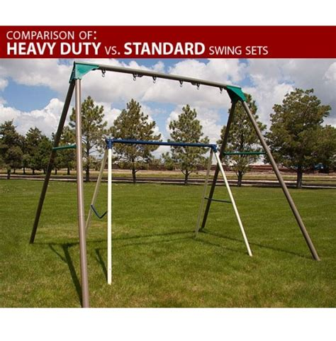 swing set metal frame heavy duty commercial quality swing set sale today