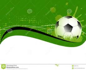 sport template with soccer football ball stock