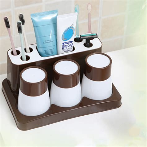 bathroom toothbrush storage fashion bathroom toothbrush holder toothbrush set for a family of three f7 ebay