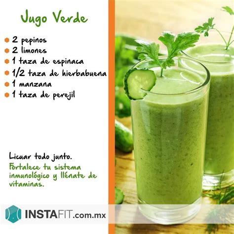 Imagenes Batidos Verdes | jugo verde jugos naturales pinterest jugos verdes