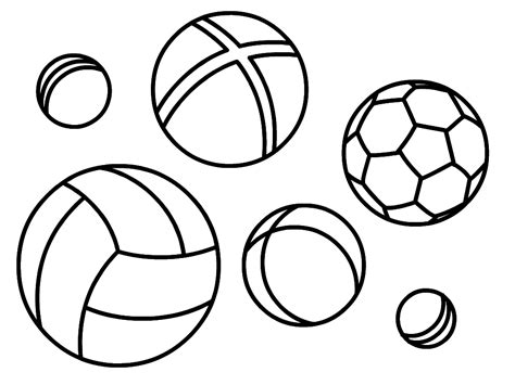 ball coloring pages for kids to print for free