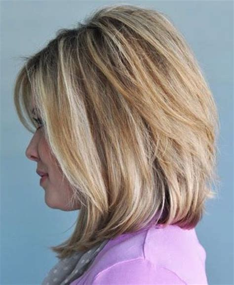 medium style hair with back a little shorter than sides stacked bob cut back view for women 2015 14 medium bob