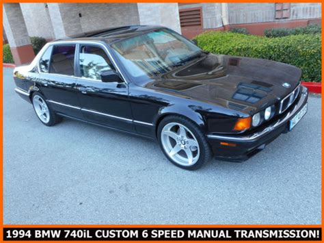 old car manuals online 1994 bmw 3 series electronic toll collection one of a kind 1994 bmw 740il custom 6 speed manual transmission rust free e32 classic bmw 7
