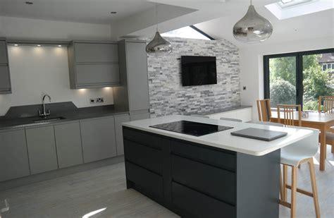 Grey Handleless Kitchen metcalf kitchens gallery matt grey handleless kitchen