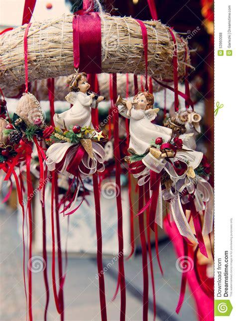 traditional german christmas decorations stock photo image