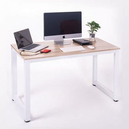merax modern simple design computer desk table workstation  home officewhite  oak