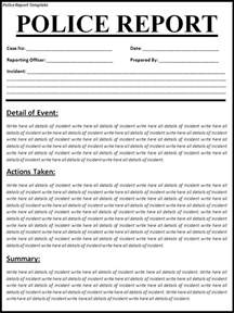 Report Writing Templates Police Report Writing Template Police Report Template