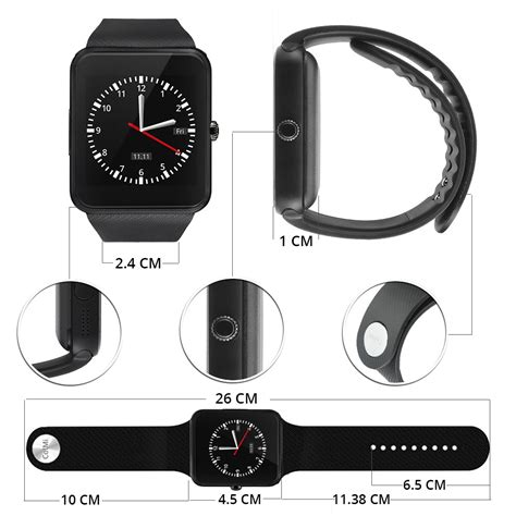 Smartwatch Z60 Black smartwatch sporty sim card bluetooth for android gt08 z60 black jakartanotebook