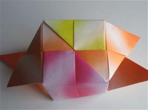 Origami Seamless Cube - how to fold an origami cube tutorial origami handmade