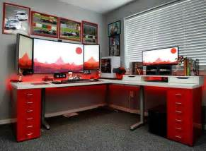 gaming desk setup ideas best 25 gaming setup ideas on pc gaming setup