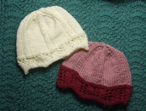 knitted chemo cap patterns free knitting patterns galore lace edged chemo caps