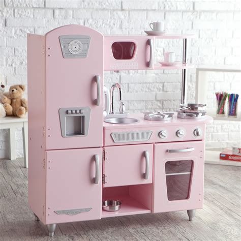 kidkraft pink vintage kitchen 53179 play kitchens at