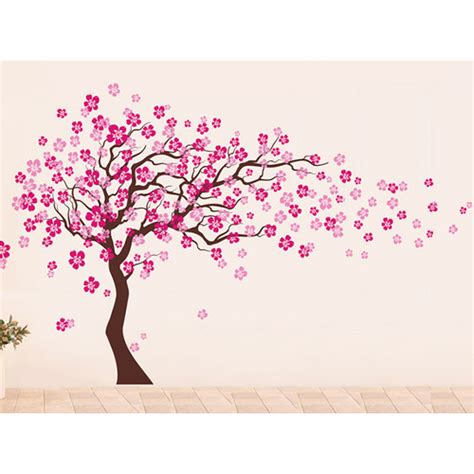 pop decors cherry blossom tree removable vinyl wall
