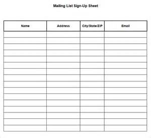 mailing list sign up sheet template sign up sheets 64 free word excel pdf documents