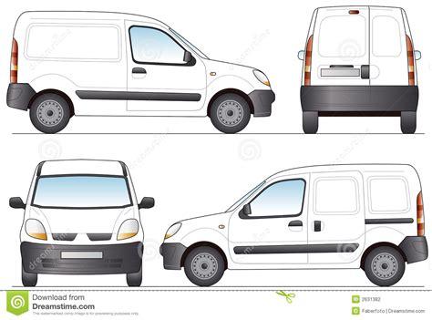 van layout vector delivery van stock vector illustration of object rear