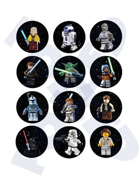 printable lego star wars cupcake toppers star wars lego cupcake toppers by poized on etsy star