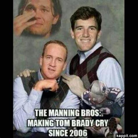 Tom Brady Crying Meme - the manning bros making tom brady cry since 2006