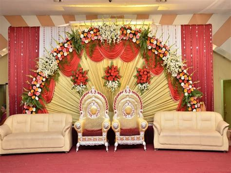 simple sweetheart stage decorations  stage wedding deco