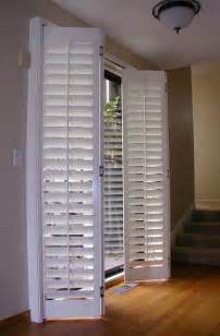 Plantation Shutters For Patio Doors Stanfield Shutter Co Accordion Plantation Shutters Fold Em As You Like