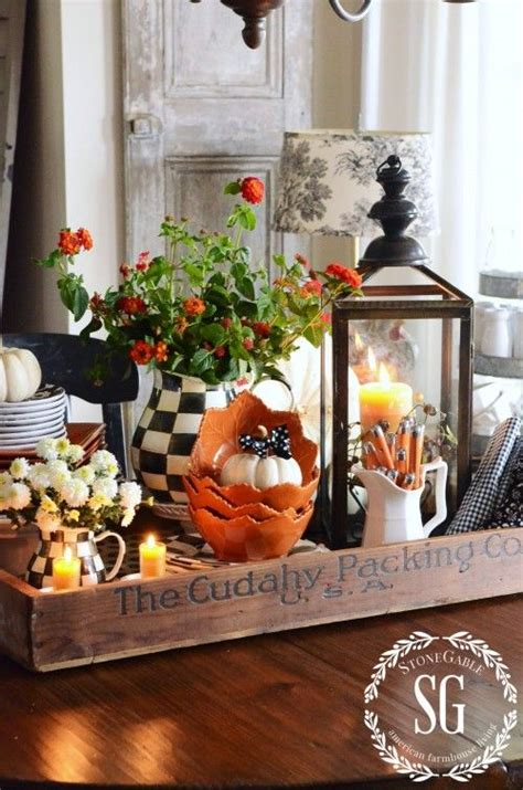 centerpiece ideas for kitchen table fall kitchen table centerpiece vignettes house tours