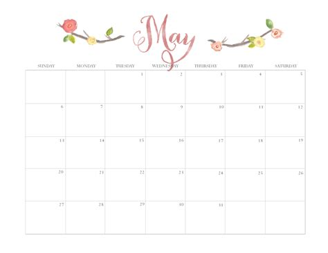 printable calendar 2017 pretty may 2017 pretty calender new calendar template site