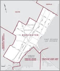 burlington map burlington maps corner elections canada