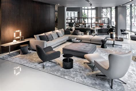 Store Room Design by Minotti Italia Showroom In Shangai Images