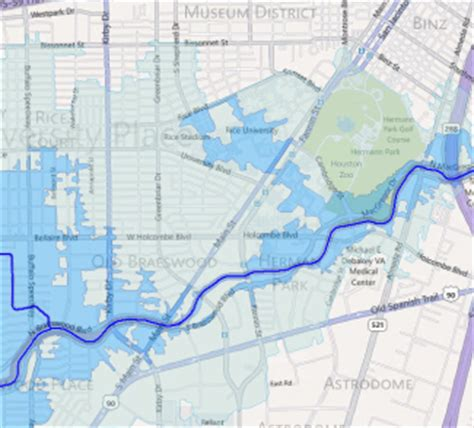 houston flood map allison hcfcd releases flood education mapping tool