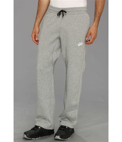 light grey nike sweatpants lyst nike ace open hem fleece pants in gray for men