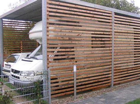auto unterstand bauen carport selbst bauen wohnmobil wohnwagenform