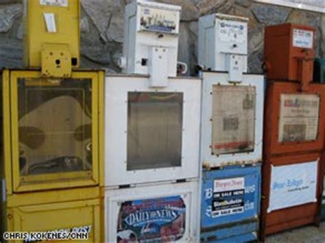 Newspaper Racks For Sale Used by Newspaper Vending Boxes Feel Economy S Slide Cnn