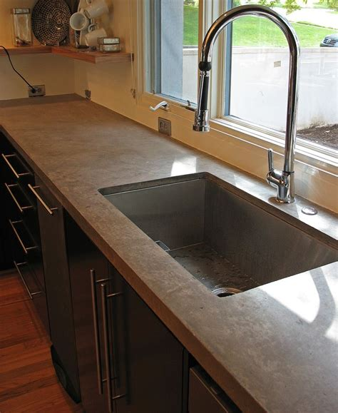 undermount sink concrete countertop concrete countertops this color and the big