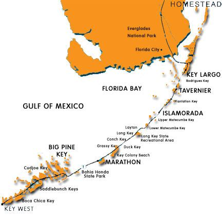 where is key west florida on the map map of florida islands image gallery