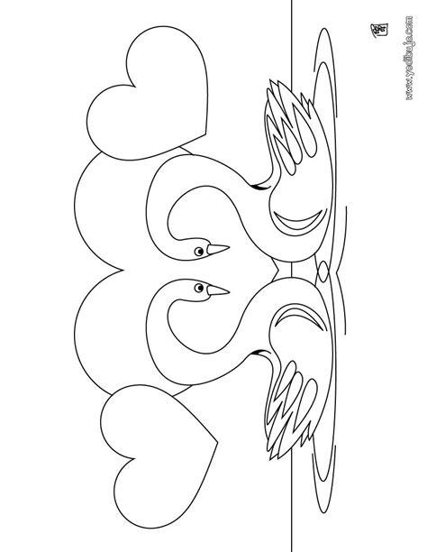 imagenes para dibujar de palomas dibujos para colorear cisnes es hellokids com